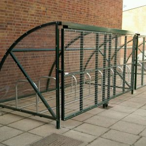 20 Space Parkmore Enclosure with cantilever gate and mesh front