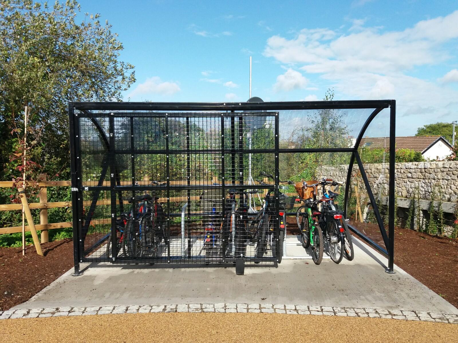 Kylemore Bike Enclosure with Lockable Sliding Gate